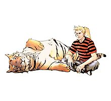 Real Calvin and Hobbes Photographic Print
