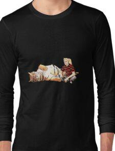 Real Calvin and Hobbes Long Sleeve T-Shirt