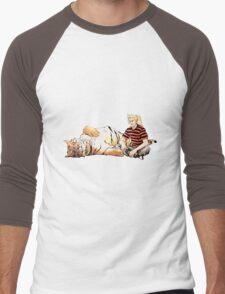 Real Calvin and Hobbes Men's Baseball ¾ T-Shirt