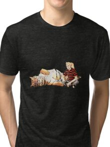 Real Calvin and Hobbes Tri-blend T-Shirt