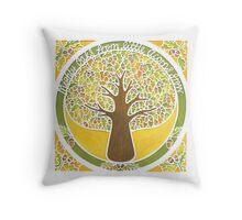 'Mighty Oak' papercut Throw Pillow