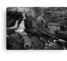Colwith Force- Long Exposure Infra Red Monochrome Canvas Print