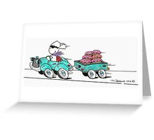 Lamb Donut Run Greeting Card
