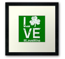 Patricks day happy Framed Print