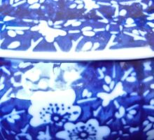 Blue and White Bowl Sticker