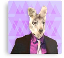 Witty Wallaby with Monocle  Metal Print