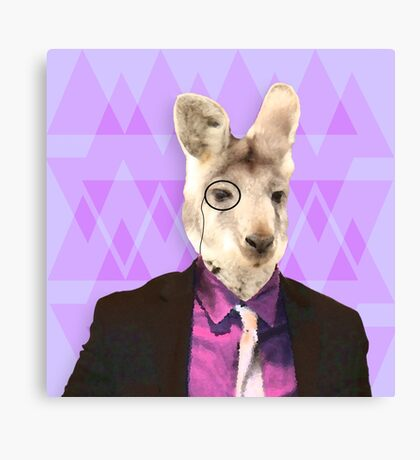 Witty Wallaby with Monocle  Canvas Print
