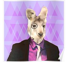 Witty Wallaby with Monocle  Poster