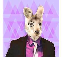 Witty Wallaby with Monocle  Photographic Print