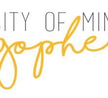 University of Minnesota Gophers Sticker