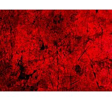Cool, unique modern red grunge abstract painting art design Photographic Print