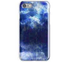 Cool, unique modern abstract blu clouds digital art design iPhone Case/Skin