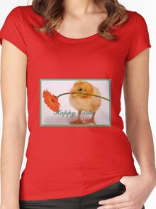 Happy Easter Chick  Women's Fitted Scoop T-Shirt