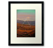 Triangle Landscape Framed Print