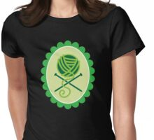 PIRATE KNITTER crossed knitting needles and a ball of Wool Womens Fitted T-Shirt