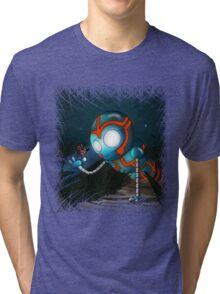 The Robot and Butterfly Tri-blend T-Shirt