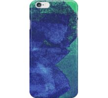 Cool, unique modern green blue abstract painting art design iPhone Case/Skin