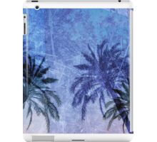 Cool, unique modern abstract blue palm tree digital art design iPad Case/Skin