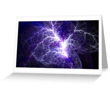 Electric Heart Fractal Greeting Card