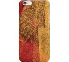 Cool, unique modern red yellow abstract painting art design iPhone Case/Skin