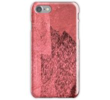 Cool, unique modern pink black abstract painting art design iPhone Case/Skin