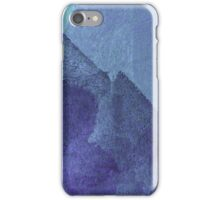 Cool, unique modern blue abstract painting art design iPhone Case/Skin