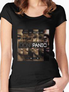 Section Boyz - Dont Panic T Shirt Women's Fitted Scoop T-Shirt