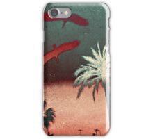 Cool, unique modern palm tree birds nature digital art design iPhone Case/Skin