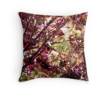 Cool, unique modern nature tree abstract digital art design Throw Pillow