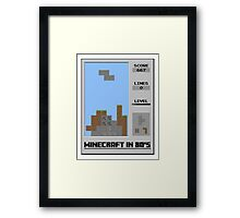Minecraft in 80's Framed Print