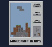 Minecraft in 80's Kids Tee