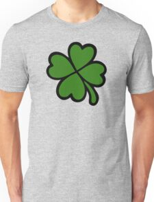Lucky Four Leaf Clover Pattern Unisex T-Shirt