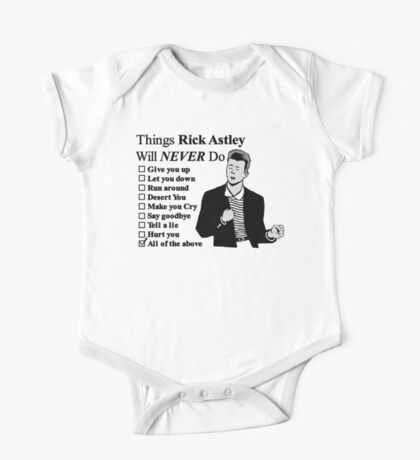 Rick Astley One Piece - Short Sleeve