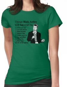 Rick Astley Womens Fitted T-Shirt