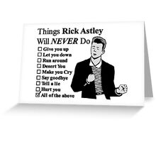 Rick Astley Greeting Card