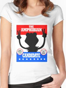 The Amphibian Candidate Women's Fitted Scoop T-Shirt