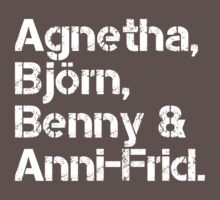 ABBA [line-up] Baby Tee