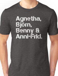 ABBA [line-up] Unisex T-Shirt