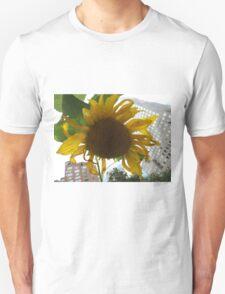 Sunflower Close-Up, Community Garden, Lower Manhattan, New York City  Unisex T-Shirt
