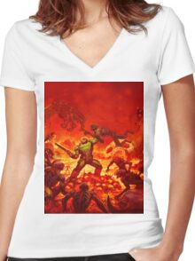 Hell Women's Fitted V-Neck T-Shirt