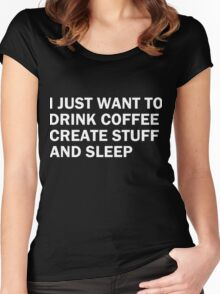 I just want to drink coffee Women's Fitted Scoop T-Shirt
