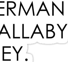 P Sherman 42 Wallaby way  Sticker