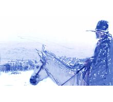 Capt. Call in a Snowstorm Photographic Print