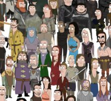 Game of Burgers - All Characters Sticker
