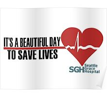 Grey's Anatomy - It's a Beautiful Day to Save Lives Poster