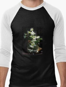 Easter Lilies Men's Baseball ¾ T-Shirt