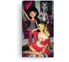 Monster High + Barbie + Bratz  Canvas Print