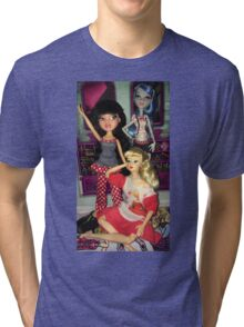 Monster High + Barbie + Bratz  Tri-blend T-Shirt