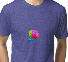 Watercolour Skull Tri-blend T-Shirt