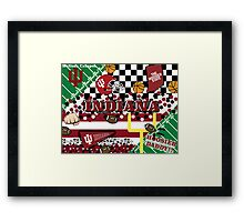 Indiana University Collage Framed Print